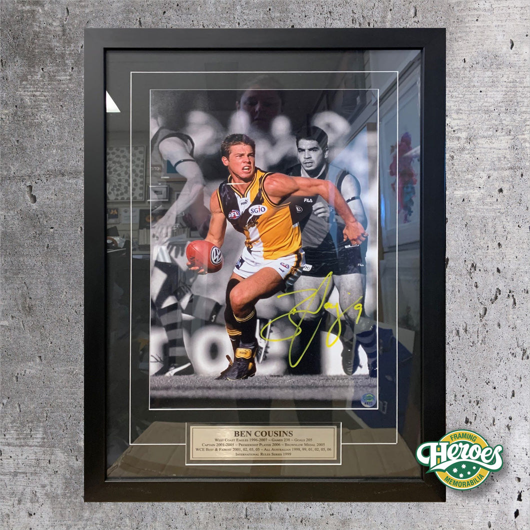 Ben Cousins Signed Action Photo - Heroes Framing & Memorabilia