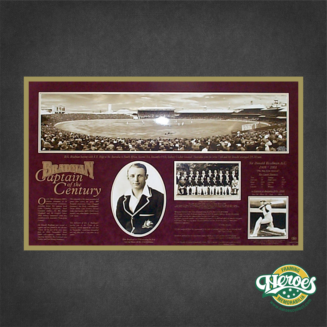 Sir Donald Bradman - Captain of the Century - Heroes Framing and  Memorabilia