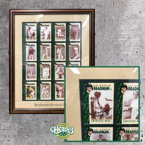 Don Bradman Signed Collector Cards - Heroes Framing & Memorabilia