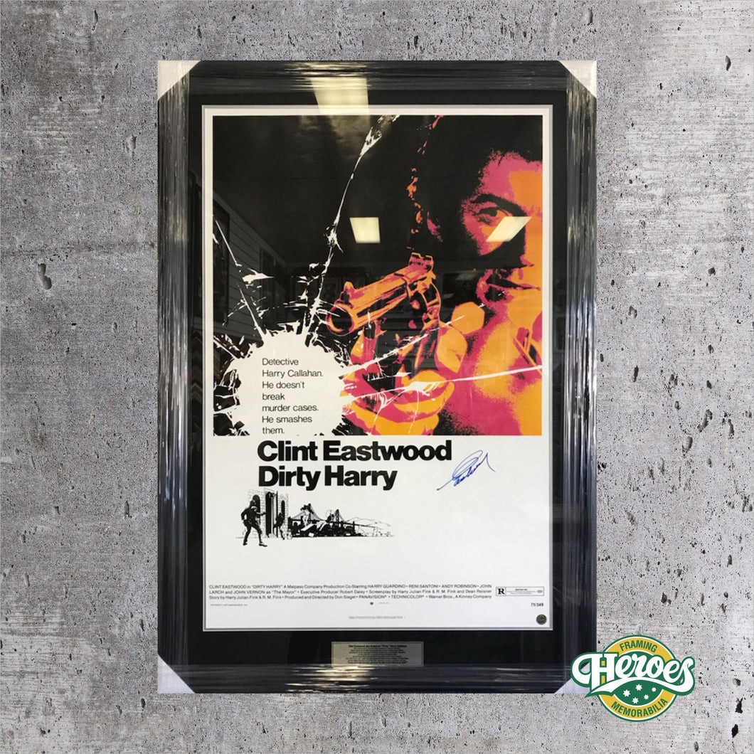 Dirty Harry Poster - signed by Clint Eastwood - Heroes Framing and  Memorabilia