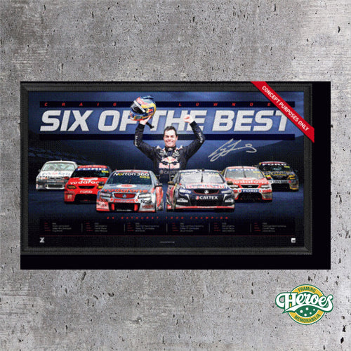 V8 SUPERCARS – CRAIG LOWNDES SIX OF THE BEST - Heroes Framing and  Memorabilia