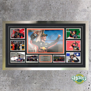 DANIEL RICCIARDO - 7 WINS - RED BULL RACING - Heroes Framing & Memorabilia