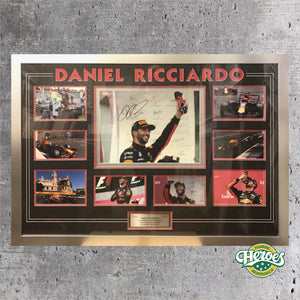 DANIEL RICCIARDO SIGNED LARGE MONTAGE - Heroes Framing and  Memorabilia