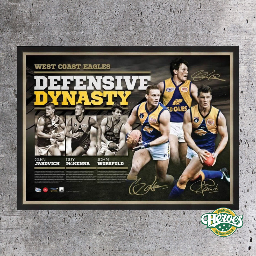 Defensive Dynasty - West Coast Eagles - Heroes Framing and  Memorabilia