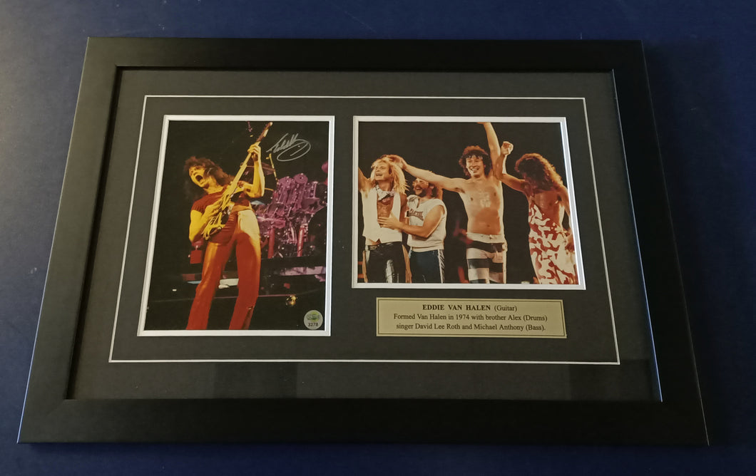 Eddie Van Halen signed photos - Heroes Framing & Memorabilia