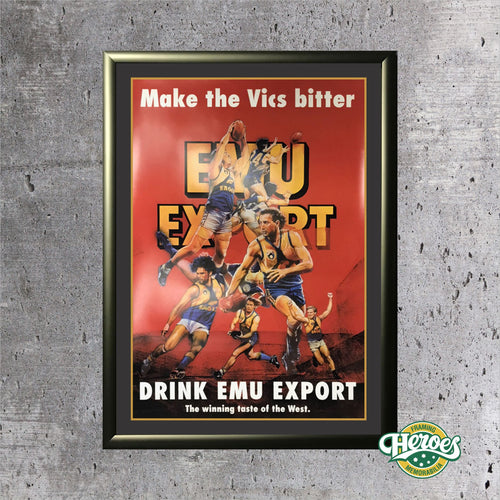 Vintage West Coast Eagles Emu Export Poster - Heroes Framing & Memorabilia