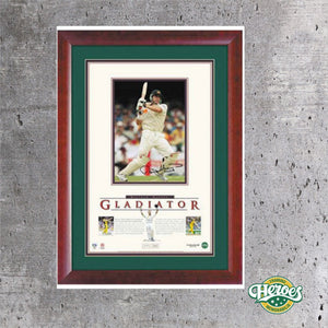 MATTHEW HAYDEN SIGNED LITHOGRAPH 'GLADIATOR' - Heroes Framing and  Memorabilia