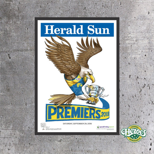 2018 Herald Sun Poster - West Coast Eagles - Heroes Framing & Memorabilia