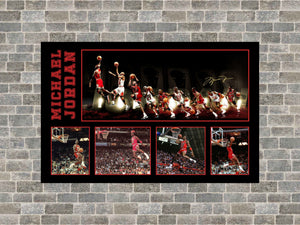 Michael Jordan printed canvas - Heroes Framing & Memorabilia