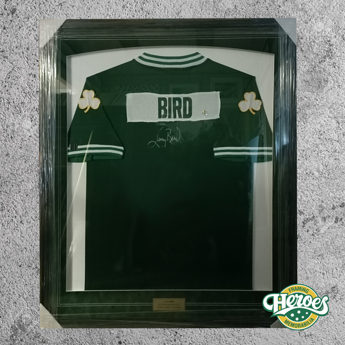 LARRY BIRD (BOSTON CELTICS) SIGNED SHIRT w/ COA - Heroes Framing & Memorabilia