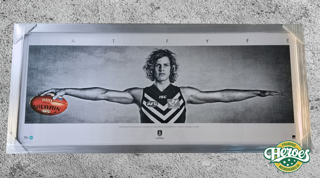 Nat Fyfe wings print - Heroes Framing & Memorabilia
