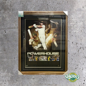 David Warner Signed Powerhouse Lithograph - Heroes Framing & Memorabilia