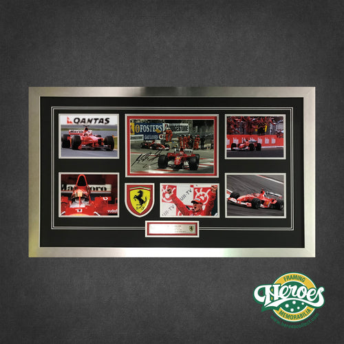 MICHAEL SCHUMACHER SIGNED MONTAGE - Heroes Framing and  Memorabilia