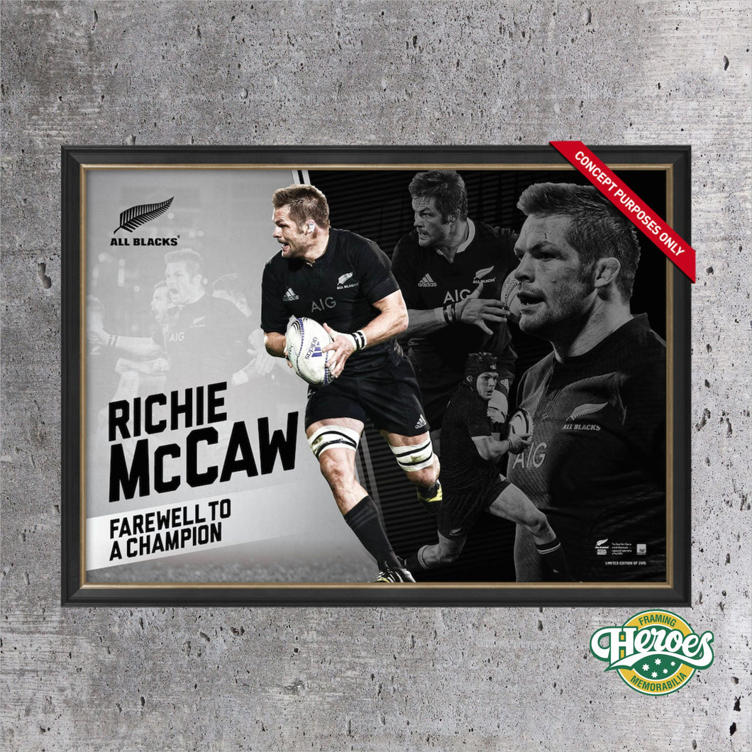Richie McCaw- Farewell to a Champion - Heroes Framing & Memorabilia