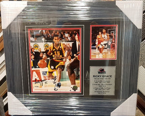 "RICKY ""AMAZING"" GRACE SIGNED PHOTO FRAME - Heroes Framing & Memorabilia"