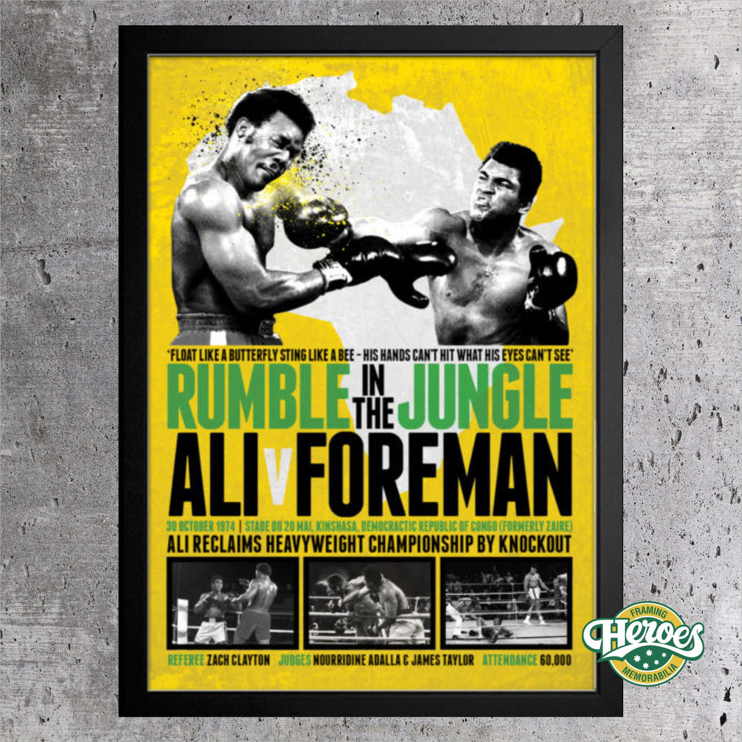 Rumble in the Jungle - Heroes Framing & Memorabilia