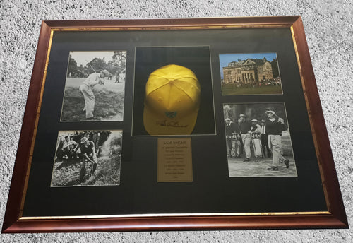 Sam Snead signed hat and photo montage - Heroes Framing & Memorabilia