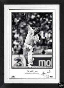 SHANE WARNE – SIGNED & FRAMED 'REVOLUTION' LAST MATCH RETIREMENT PRINT - Heroes Framing & Memorabilia
