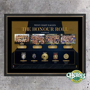 WEST COAST EAGLES HONOUR ROLL - Heroes Framing & Memorabilia
