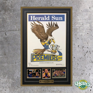 2018 West Coast Eagles Herald Sun Poster Montage - Heroes Framing and  Memorabilia
