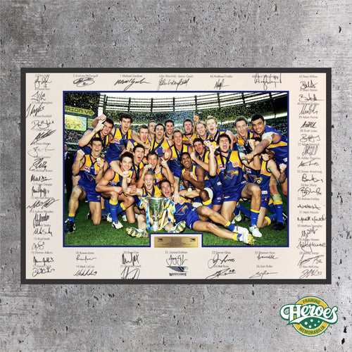 West Coast Eagles 2006 AFL Premiers - Heroes Framing & Memorabilia