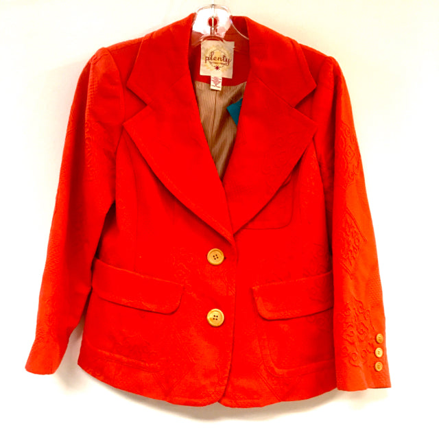 Jacket embossed 2 buttons solid