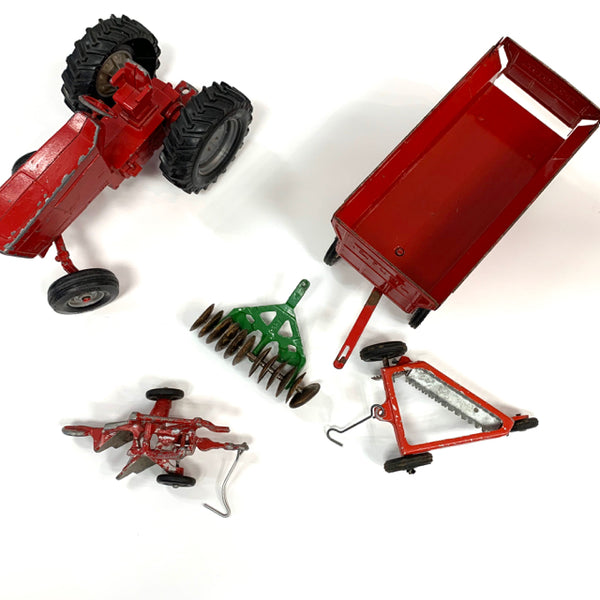 Vintage Tracktor with tools and attachments
