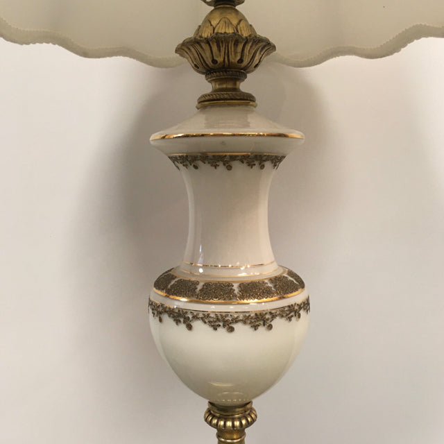 Lamp ceramic - brass
