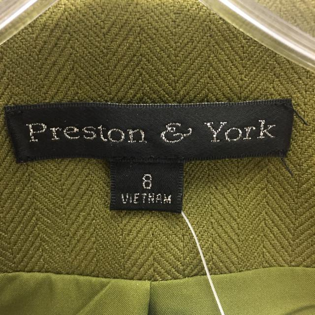Preston & York Green Size M Textured Polyester Button Down Jacket - Treasures Upscale Consignment