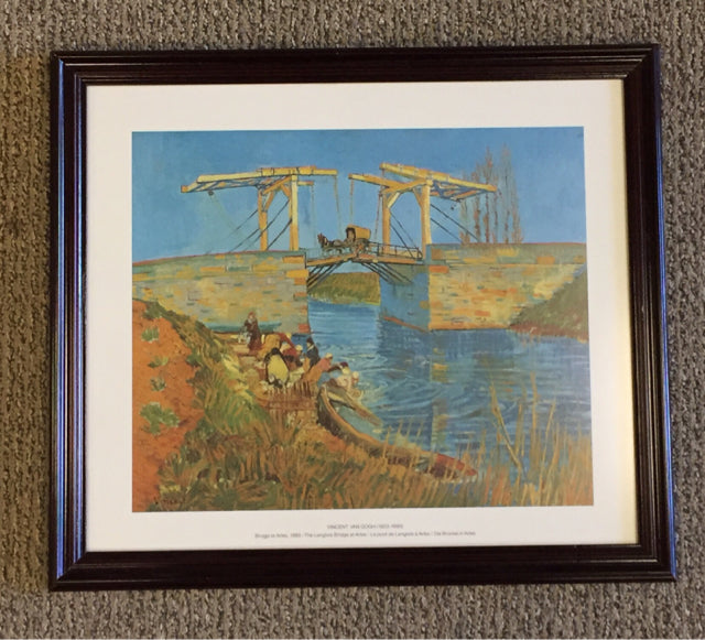 The Langlois Bridge at Arles Print