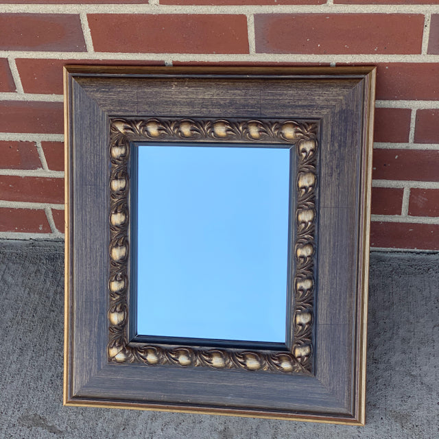 Mirror wall hanging ornate wooden frame