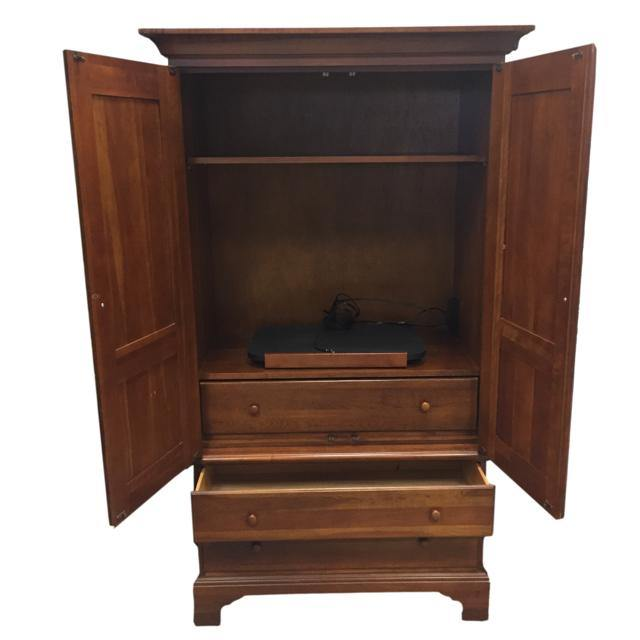 Brown Wood Entertainment Center - Treasures Upscale Consignment