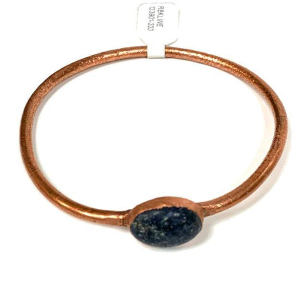 Bangle Copper Oval Lapis Bracelet