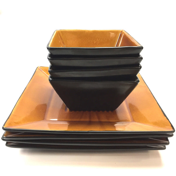 Port of Call Square Brown Dinnerware