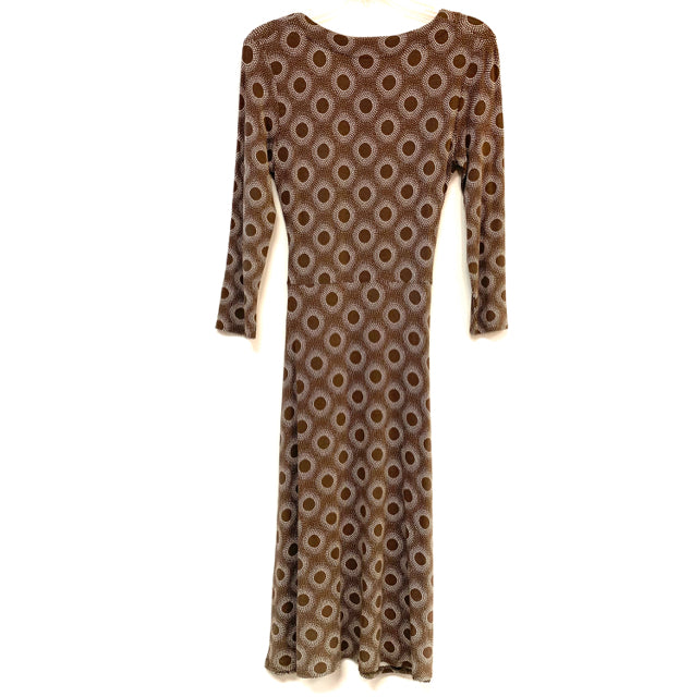 Dress faux wrap round pattern