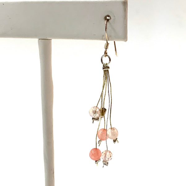 Earrings multi silk strand