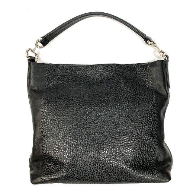 Handbag leather hobo leather silver hardware