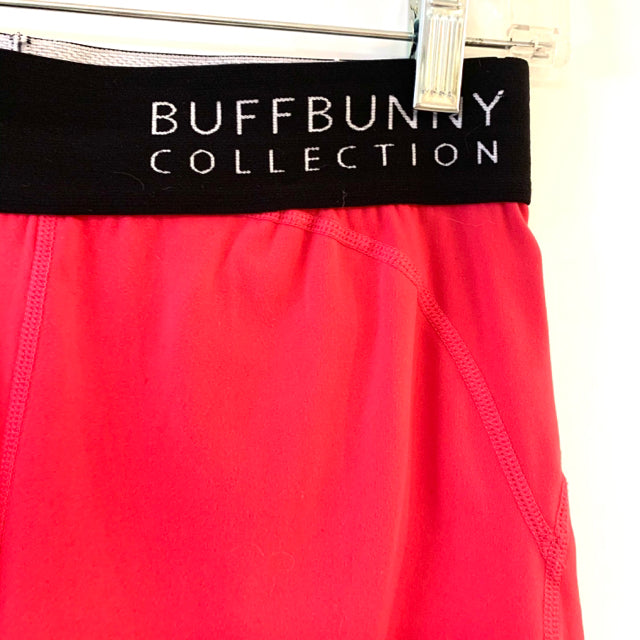 Buffbunny Collection Size S Pink-Black Solid Nylon Women's Shorts