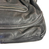 Cole Haan Black Leather Pebbled Handbag