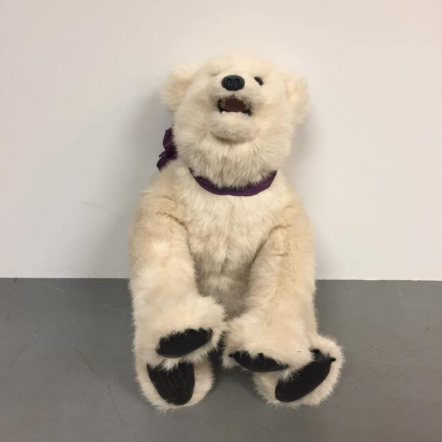 Bear Valley White Plush Greatchen BR 87Q - Treasures Upscale Consignment