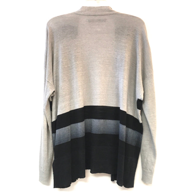Sweater cardigan  knit stripe open front