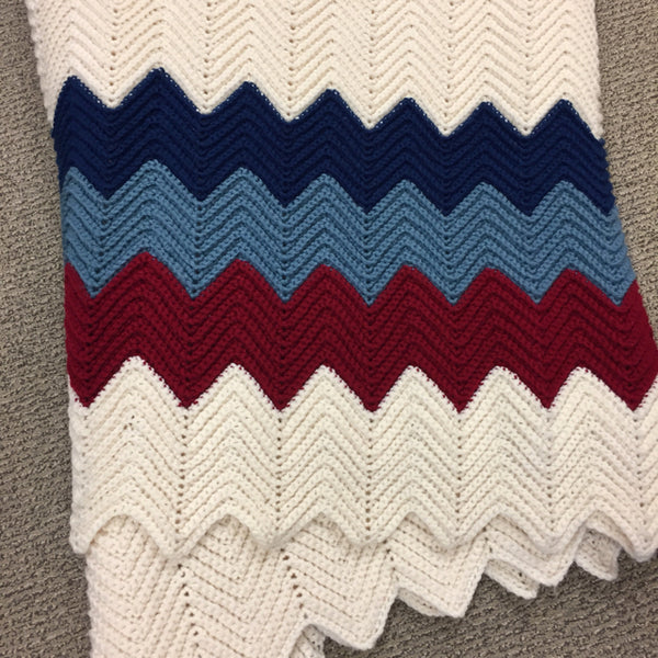 Handmade Blue-Multi Blanket