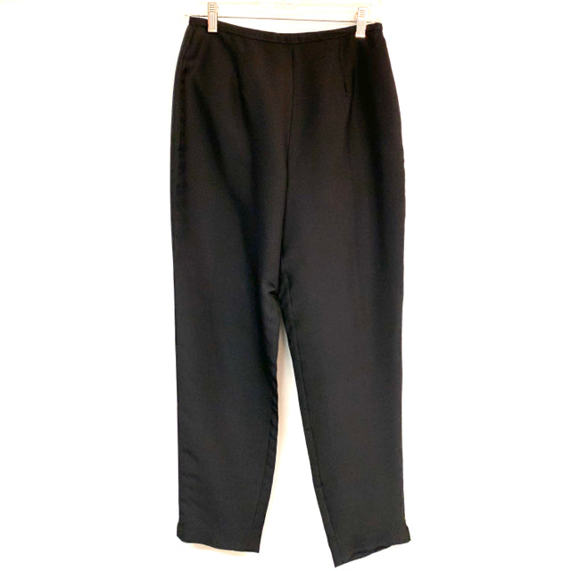 Pants solid  silk side zipper