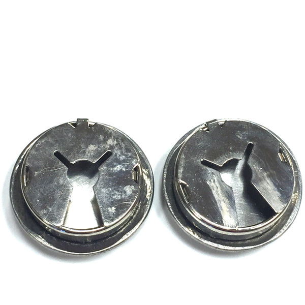 Sterling Silver Navajo button covers