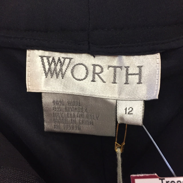 Worth Size 12 Solid Wool Blend Pants
