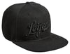 LEIJONAT CREW SNAPBACK ALL BLACK