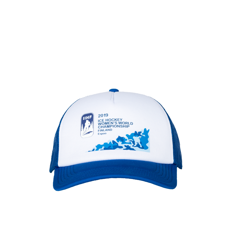 IIHF 2019 Trucker Cap Blue/White