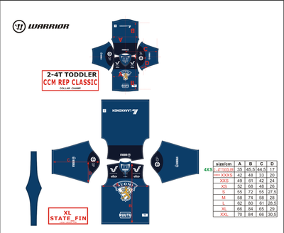 Leijonat Replica Fan Jersey - Home/Koti