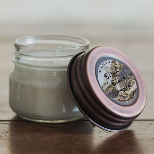 Birch & Black Pepper 4oz Mason Jar Soy Candles