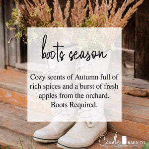 Boot Season 4oz TIN Soy Candles